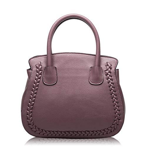 Main À Sac color Cuir Main Black En Sacs Purple Houyazhan Pour Véritable Femme Bandoulière 8gwdw