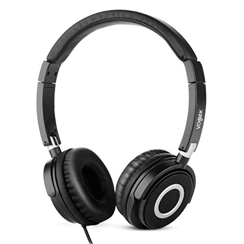 Vogek On Ear Headphones Lightweight and Foldable Bass Headphones with Volume Control and Microphone?
