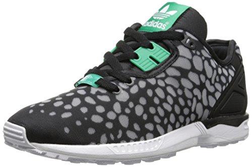 adidas Originals Women's Zx Flux Decon W Lace-up Shoe, Black/Green/White, 6 M US