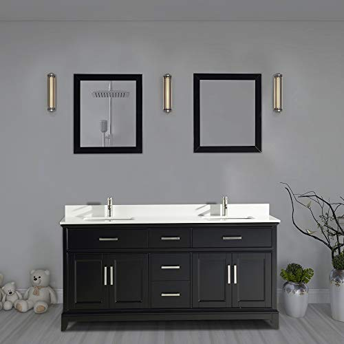 Vanity Art 72 Inch Double Sink Bathroom Vanity Set | Super White -