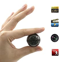 Mini Hidden Camera, Moosoo 1080P/720P HD 6 LED Infrared Night Vision Motion Detection Camcorder Video Audio Spy Camera SD Card Storage Nanny Cam Home Security Camera