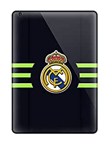 Premium Real Madrid Fc Logo Heavy-duty Protection Case For Ipad Air