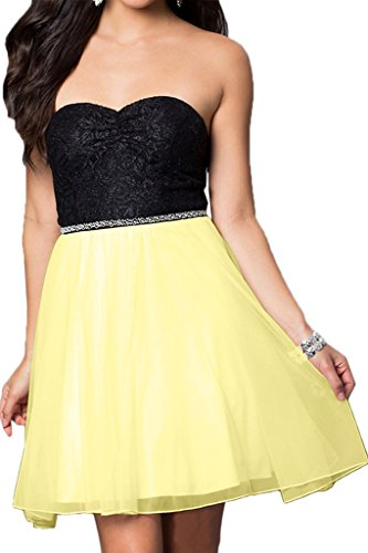 Dress A Mini Sweetheart Sequins Homecoming line Chiffon Avril Dress Bridesmaid Daffodil ROqIz
