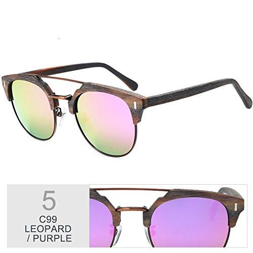 PURPLE Madera De Azul Madera En Metal Hombre Gafas Y Polarizadas TIANLIANG04 Gafas Clásico Gafas Sol De Popular Gafas WnTCa4