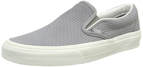 Leather Classic Dove Perf Suede Wild Zapatillas on Gris Slip Braided Mujer Vansu AUBwIw