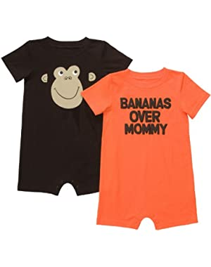 Carter's Baby Boy's Infant 2-Pack Romper