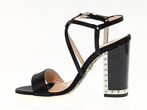 Cuir Paciotti Cesare 426010BLACK Noir Femme Sandales IxF1Unw