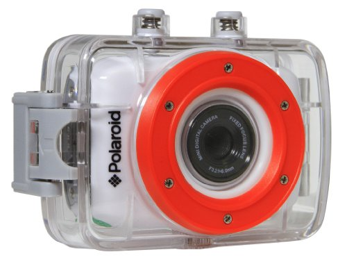 Polaroid XS7 HD 720p 5MP Waterproof Sports Action Camera with LCD Touch Screen, Mounting Kit Included Action Cameras Polaroid