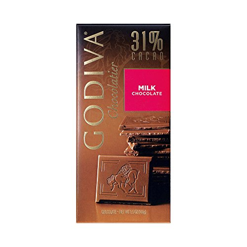 031290094141 - Godiva Milk Chocolate Bar, 3.5-Ounces (Pack of 5) carousel main 0