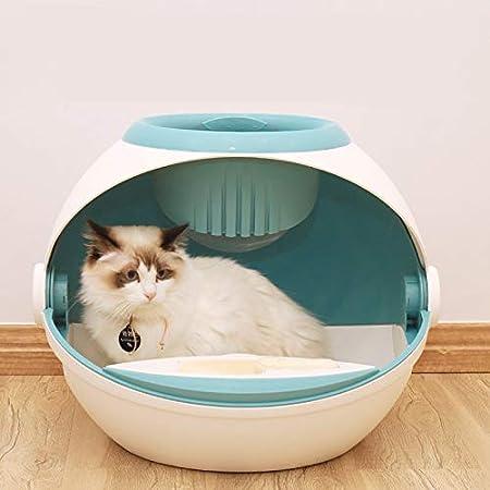Owenqian Caja de Arena para Gatos Gatito higiénico doméstico del Gato Caja de Arena de la Puerta Doble-Cat House Frente Entrada Ultra Caja de Arena autolimpiante para Gatos: Amazon.es: Hogar
