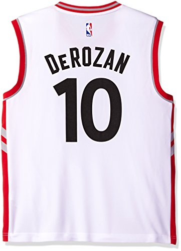 adidas NBA Men's Toronto Raptors DeMar DeRozan Replica Player Home Jersey, Large, White