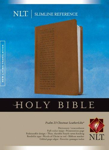 (Slimline Reference Bible NLT (Red Letter, LeatherLike, Chestnut/Brown))