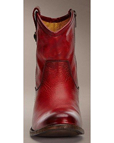 Burgundy Antique Washed Short 7 up B FRYE Melissa M Women's Boot Button Pull 6xYwxFIq