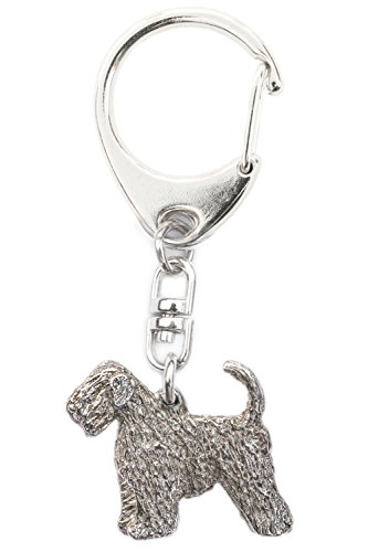 Soft Coated Wheaten Terrier (With Tail) Made in U.K Artistic Style Dog Key Ring - Jewelry Soft Coated Wheaten