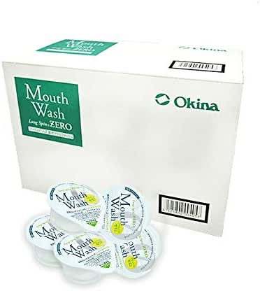 Okina Long Spin Mouthwash Travel Size 100 Count, Made in Japan (Citrus Mint, 14ml)