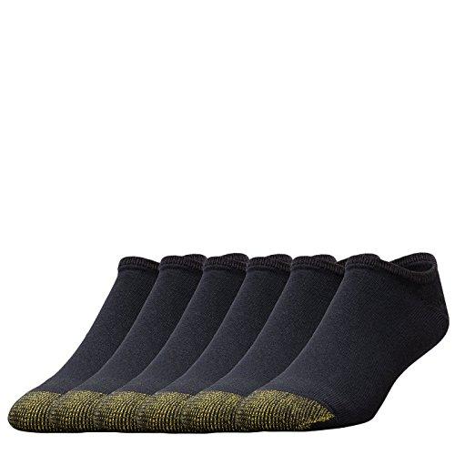- Gold Toe Men's Cotton No Show Athletic Sock - 2 PK (12 Pair) 10-13 - Black, (6-Pack)