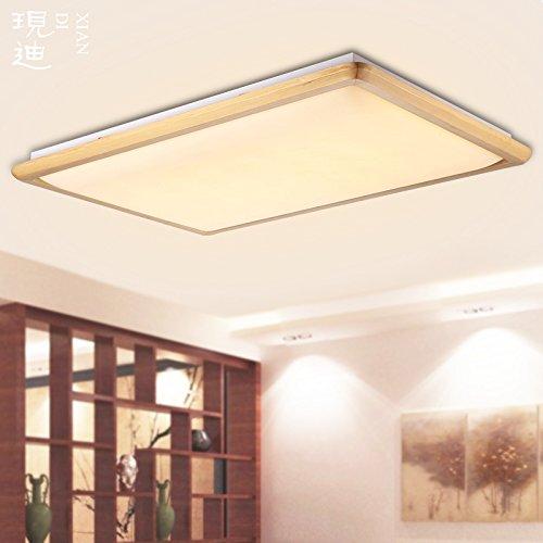 BLYC- Fernbedienung-leichte moderne neue Chinesisch-japanischen Stil Beleuchtung Decke Schlafzimmer Beleuchtung die Wohnzimmer Restaurant rechteckige led Lampe Licht natürliche Farbe , 67*47led