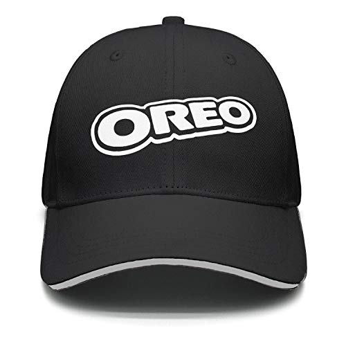 JIAJIAJIAN Adjustable Oreo-Cookie- Printing Plain Mesh Baseball Cap for Men