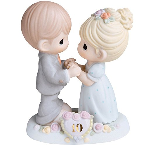 Precious Moments,  A Decade Of Dreams Come True - 10th Anniversary, Bisque Porcelain Figurine, 730007 (10th Anniversary Figurine)