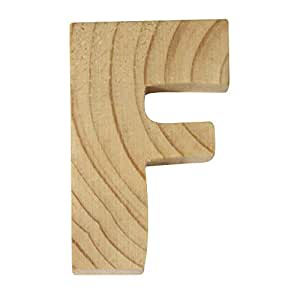 Rayher 6213800Madera letras, 5x 1cm, F