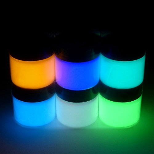 [Art 'N Glow Artist's Acrylic Glow In The Dark Paint with Charging Light, 1/2 Fluid Ounce (6-Pack), Neutral] (Doe Costume Diy)