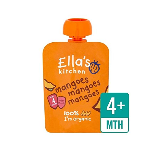 Ella's Kitchen Organic Smooth Mango Puree Stage 1 70g - Pack of 6 Ella' s