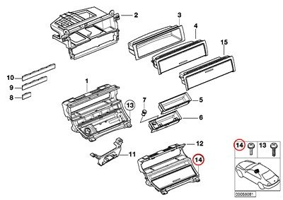 e46 door panel screws - 4