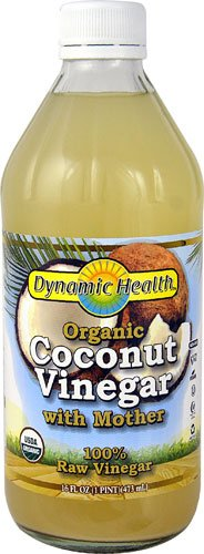 Organic Coconut Vinegar with Mother 100% Raw Vinegar by Dynamic Health