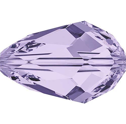 - 50pcs 8x6mm Adabele Austrian Teardrop Crystal Beads Light Violet Compatible with 5500 Swarovski Crystals Preciosa SST-804