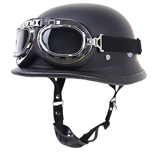 SXC Halber Motorradhelm, Vintage Harley Helme mit Brille geeignet für Männer und Frauen Harley Motorradhelm Bike Cruiser…