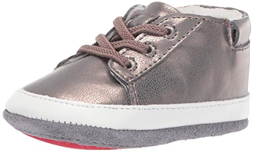Robeez Girls' Low Top Sneaker-Mini Shoez Crib Shoe, Bronze, 6-9 Months