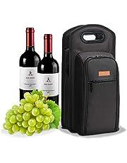 ALLCAMP Sacchetto di Vino Nero Deluxe con Accessori Vino, Borsa Tote per Il Trasporto di Vino