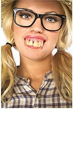 [Ponce Hill Billy Dirty Buck Crooked Fake Teeth Denture Tooth Redneck Costume] (Tooth Fairy Costumes)