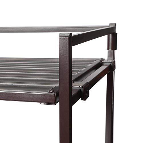 Seville Classics Resin-Wood Composite Utility Shoe Rack (Single Pack)