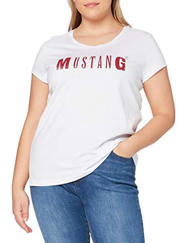 MUSTANG Damen Logo Tee T-Shirt