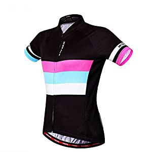 Wosawe Women's Cycling Jersey Girl Short Sleeve Shirt Shorts Bicycle Bike Sportwear Clothing D403 (Shirts, M)