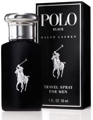 POLO BLACK by Ralph Lauren for MEN: EDT SPRAY 1 OZ (TRAVEL SIZE)
