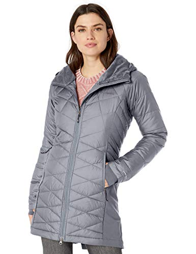 Columbia Women's Heavenly Long Hybrid Jacket, Tradewinds Grey ,Large (Womens Columbia Omni Heat Jacket)