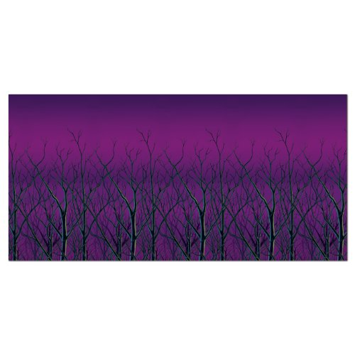 Beistle Spooky Forest Treetops Backdrop, 4-Feet by 30-Feet -