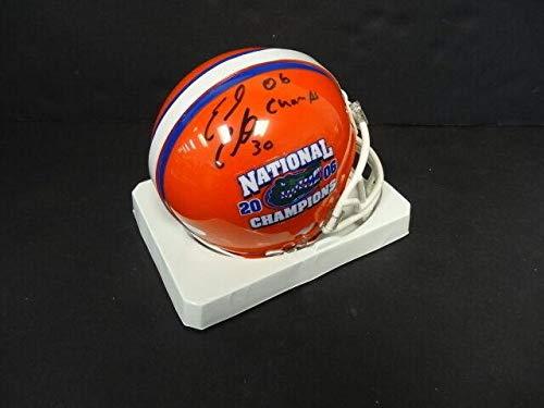 003 Memory - Earl Everett Signed Florida Mini Helmet Autograph Auto Memories *003 - Mounted Memories Certified - Autographed College Mini Helmets