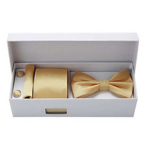 Luxury Bundle Set Tie Bow Tie Cufflinks Pocket Square ()
