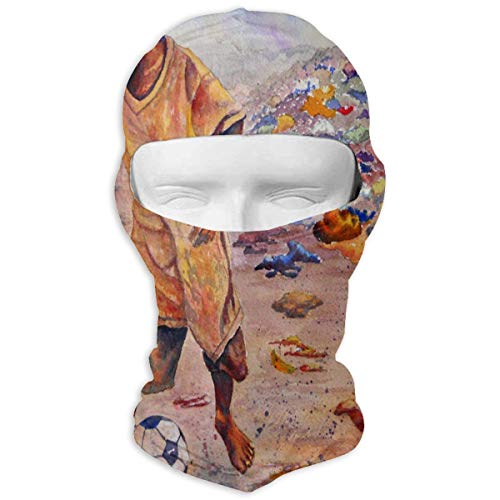 Balaclava Boy Soccer Watercolor Full Face Masks Ski Mask Motorcycle Hood For Cycling Sports Mountaineering