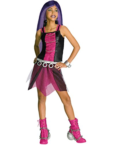 [Girls Monster High Spectra Vondergeist Costume And Wig Bundle Large 12-14] (Spectra Costumes)