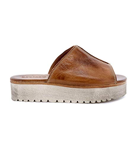 Bed|Stu Women's Fairlee II Leather Sandal (7.5 M US, Tan Rustic)