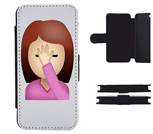 """Leder Flip Case Apple IPhone 6 plus/ 6S plus """"Frau/Mädchen schlägt Hand in Ihr Gesicht"""", der wohl schönste Smartphone Schutz aller Zeiten."""