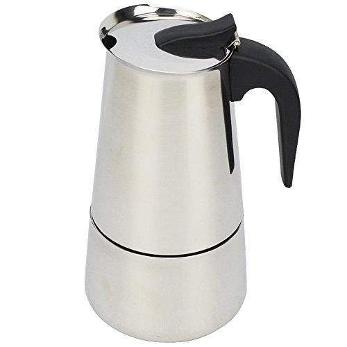 ATWFS 2/4/6/9 Cups Stainless Steel Coffee Maker Moka Pot Espresso Cups Latte Percolator Stove Top Espresso Pot