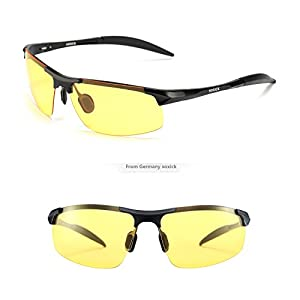 SOXICK HD Polarized Night Driving Glasses Anti Glare Safety Glasses (Black1)