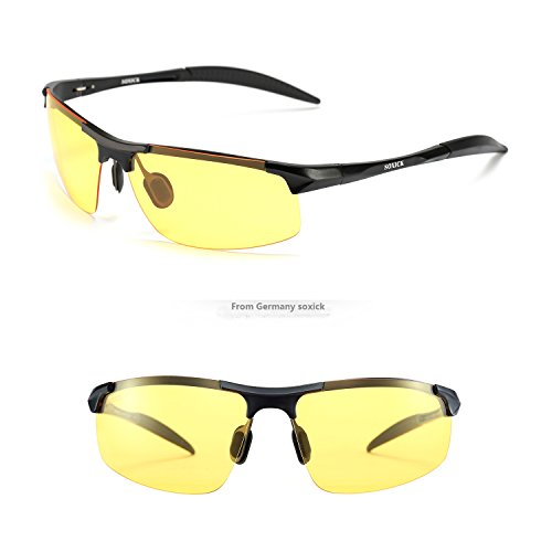SOXICK HD Polarized Night Driving Glasses Anti Glare Safety Glasses - Track Sunglasses Fast For Womens