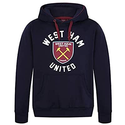West Ham United Fc Official Soccer Gift Mens Fleece Graphic Hoody
