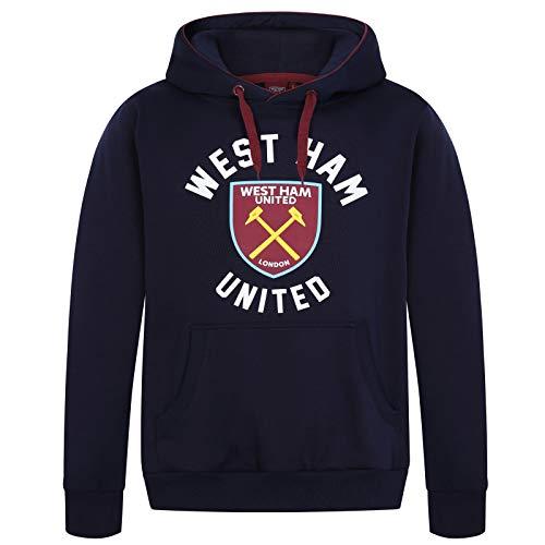 West Ham United Fc Official Soccer Gift Mens Fleece Graphic Hoody Navy Medium (West Ham Hoodie)
